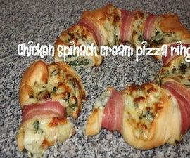 Chicken Spinach Cream Pizza Ring Recipe