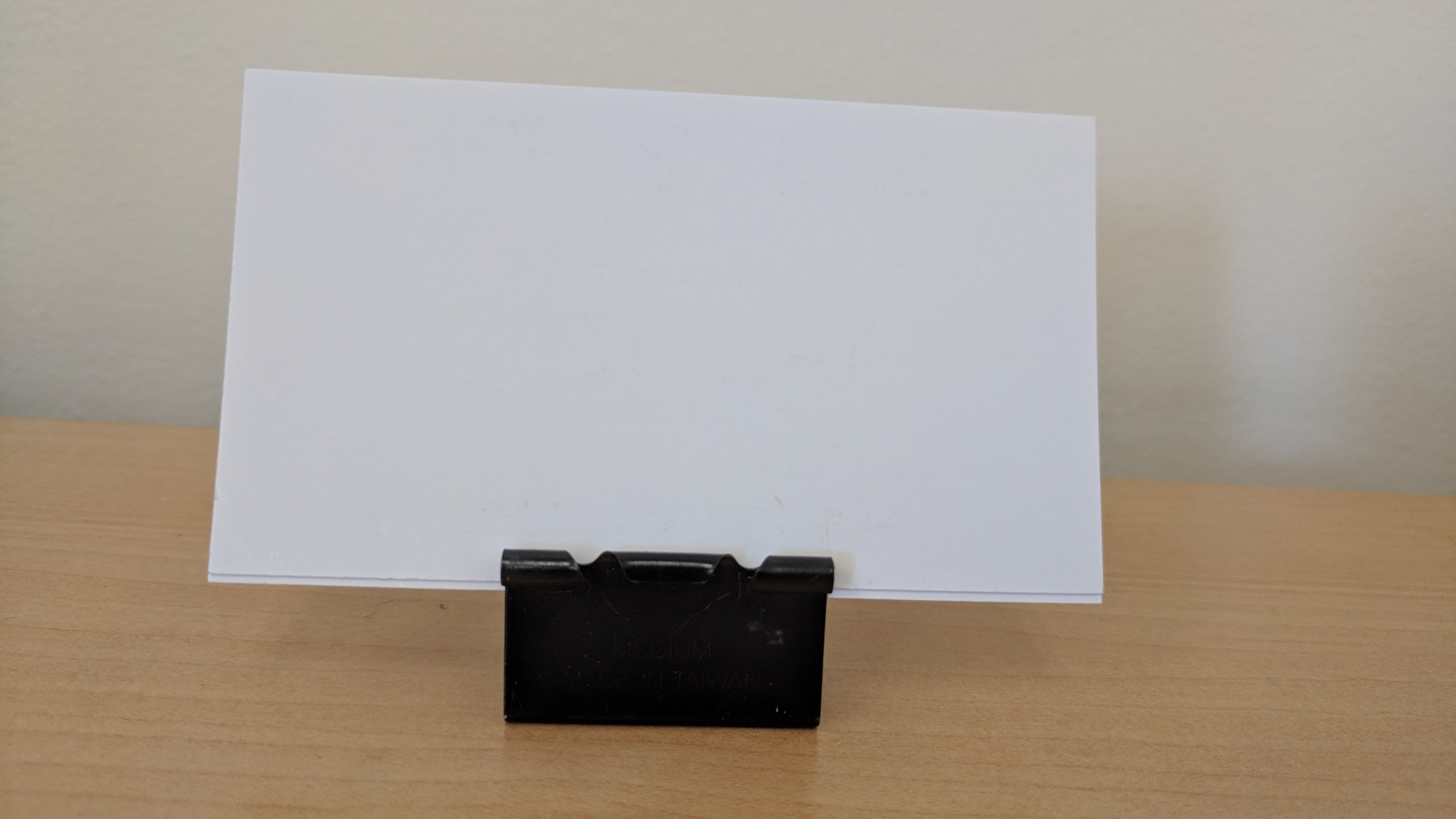 Picture of Free DIY Business Card Stand Using Office Supplies