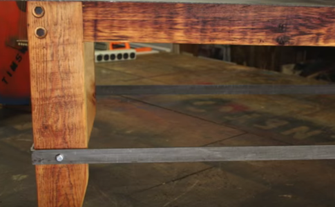 Pretty Easy Reclaimed 2X4 and Steel Top Coffee Table