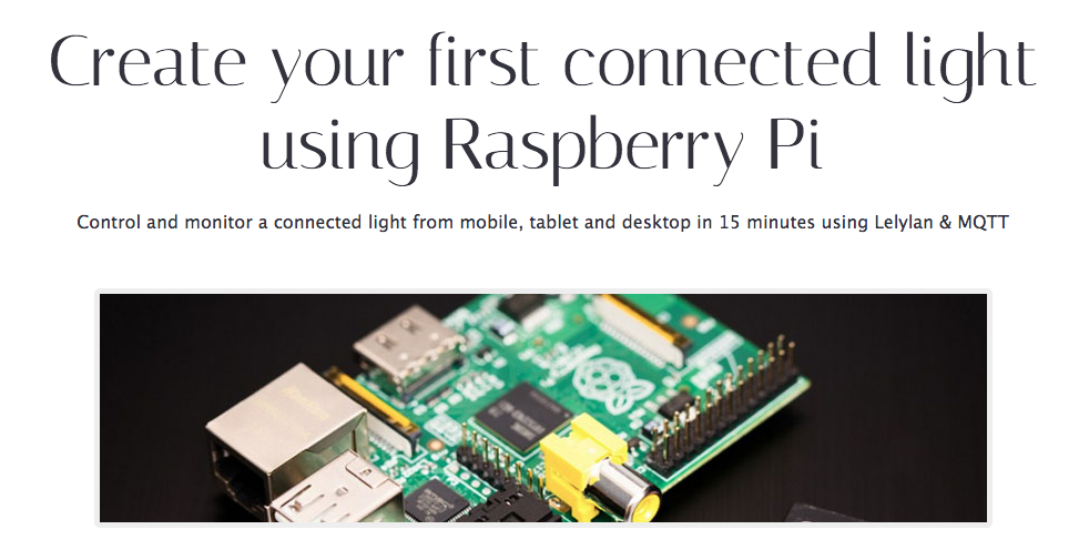 Picture of Raspberry Pi. Create Your First Connected Light