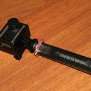 DIY Handle with Extension for GoPro, Actionpro X7 or any other action camera.