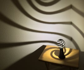 The Spiral Lamp (a.k.a the Loxodrome Desk Lamp)