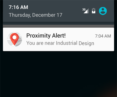Picture of Proximity Alert (Geofencing) TfCD