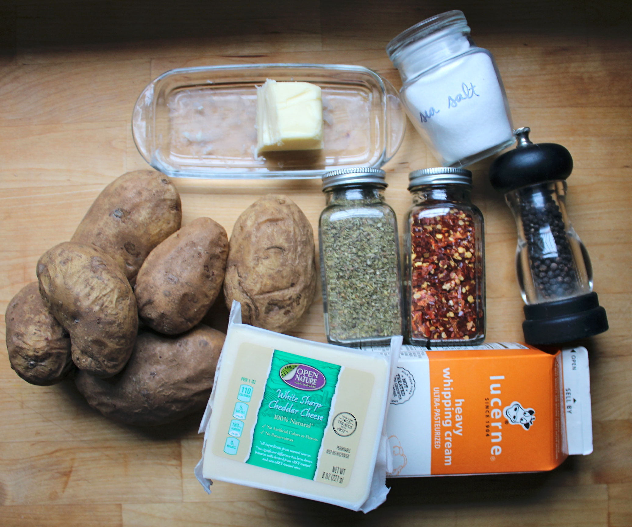 Picture of Ingredients + Cooking the Potatoes