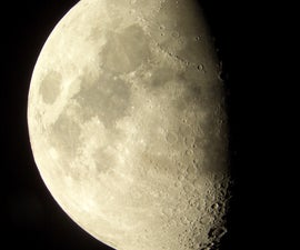 Moon Shots using eyepiece projection