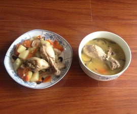 Braised Chicken, Babushka Style