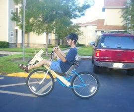 Cheap Short Wheelbase Wood Conversion Recumbent Bike