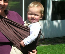 Look Mom, No Hands!  A Simple Baby Sling