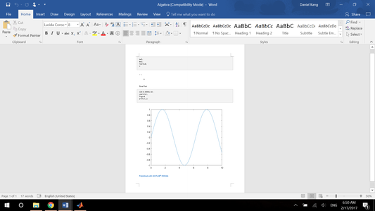 Publishing Script File to Word Document
