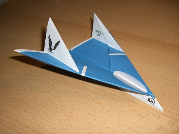 "The Eagle Jet Paper Airplane ""you Cannot Hide""  ;-)"
