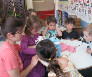 Sewing With a Group of Children
