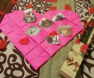 Valentines Origami Heart/photo Holder