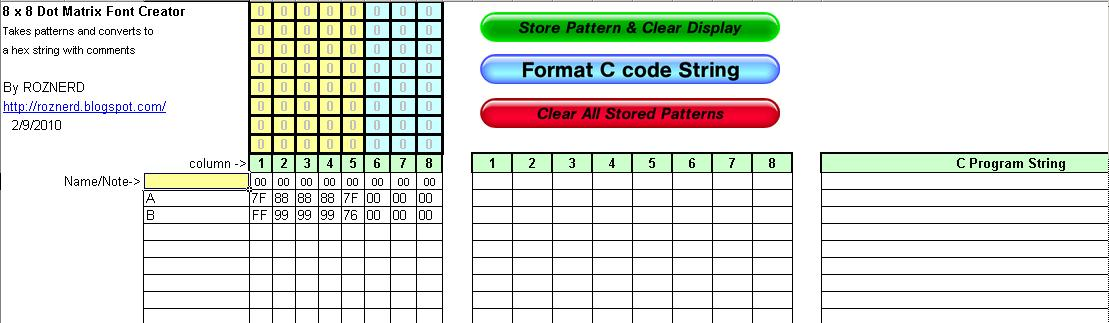 Picture of Store Pattern and Clear Display