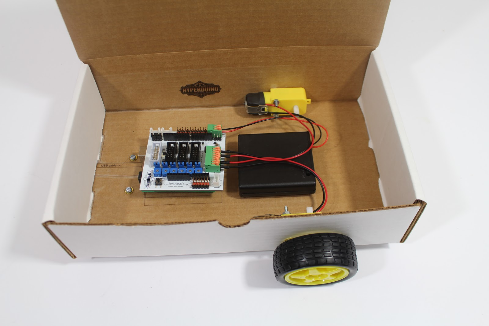 Picture of Your Own Smart Car & Beyond HyperDuino+R V3.5R With Funduino/Arduino