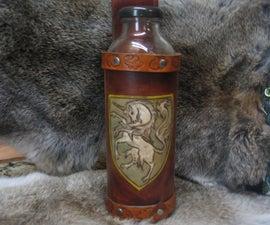 Make a Beautiful Leather Unicorn Water Bottle Holder