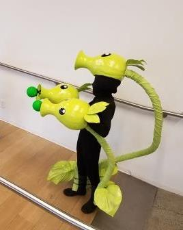 Picture of Plants Vs Zombies Triple Pea Shooter