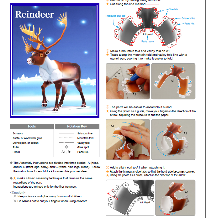 Picture of Project 1: Making Reindeer From Paper