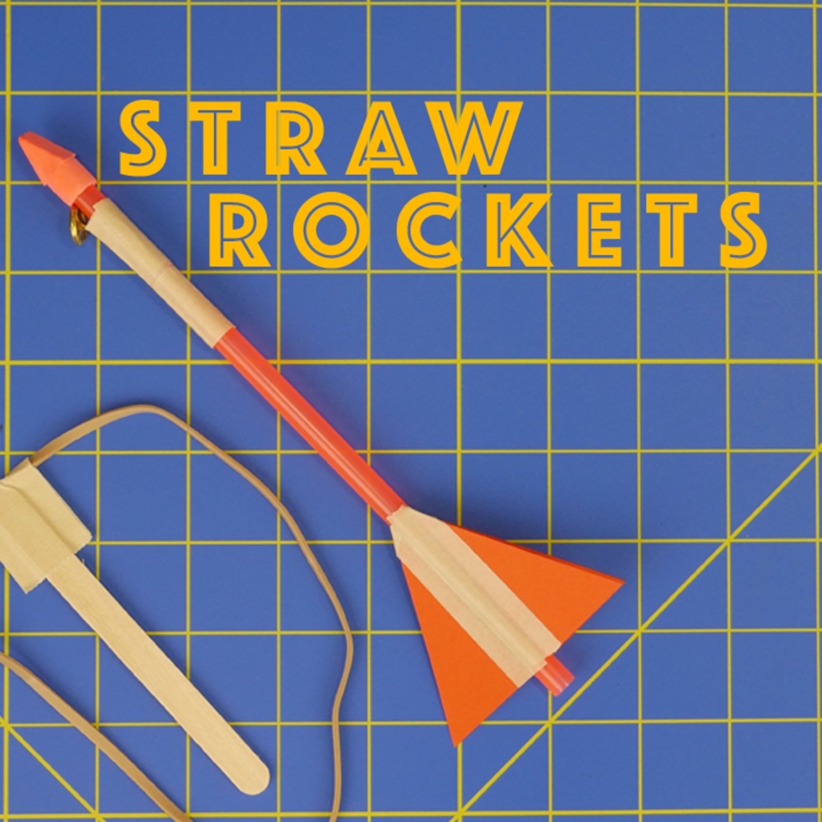 Picture of Slingshot Straw Rockets - Engineering Projects for Kids
