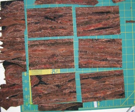 Fiber postcards - Tree Bark