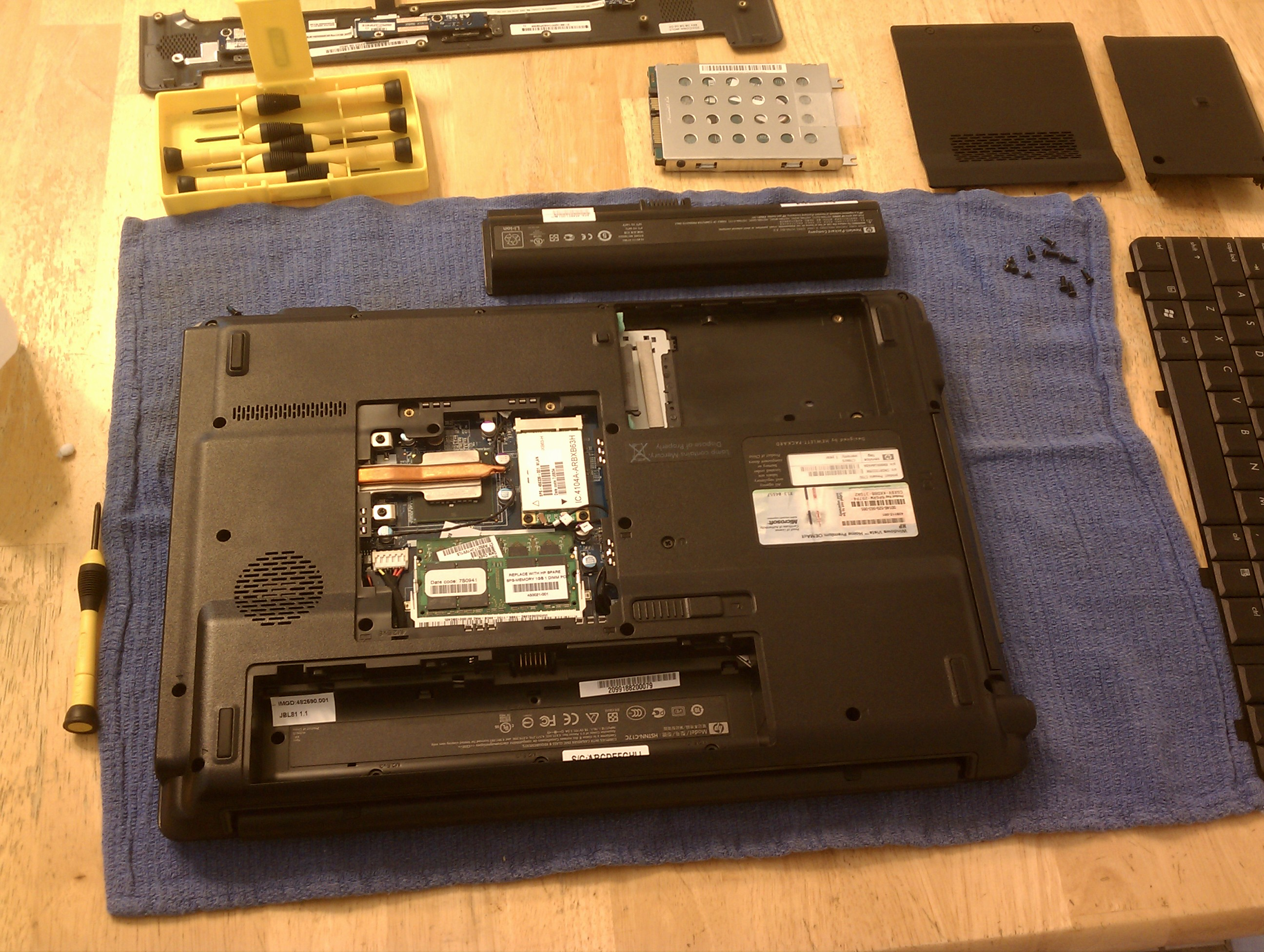 Picture of Laptop Dissassembley