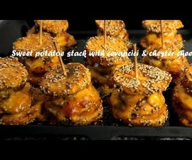 Sweet Potatoe Stack With Cevapcici & Chester Cheese Recipe