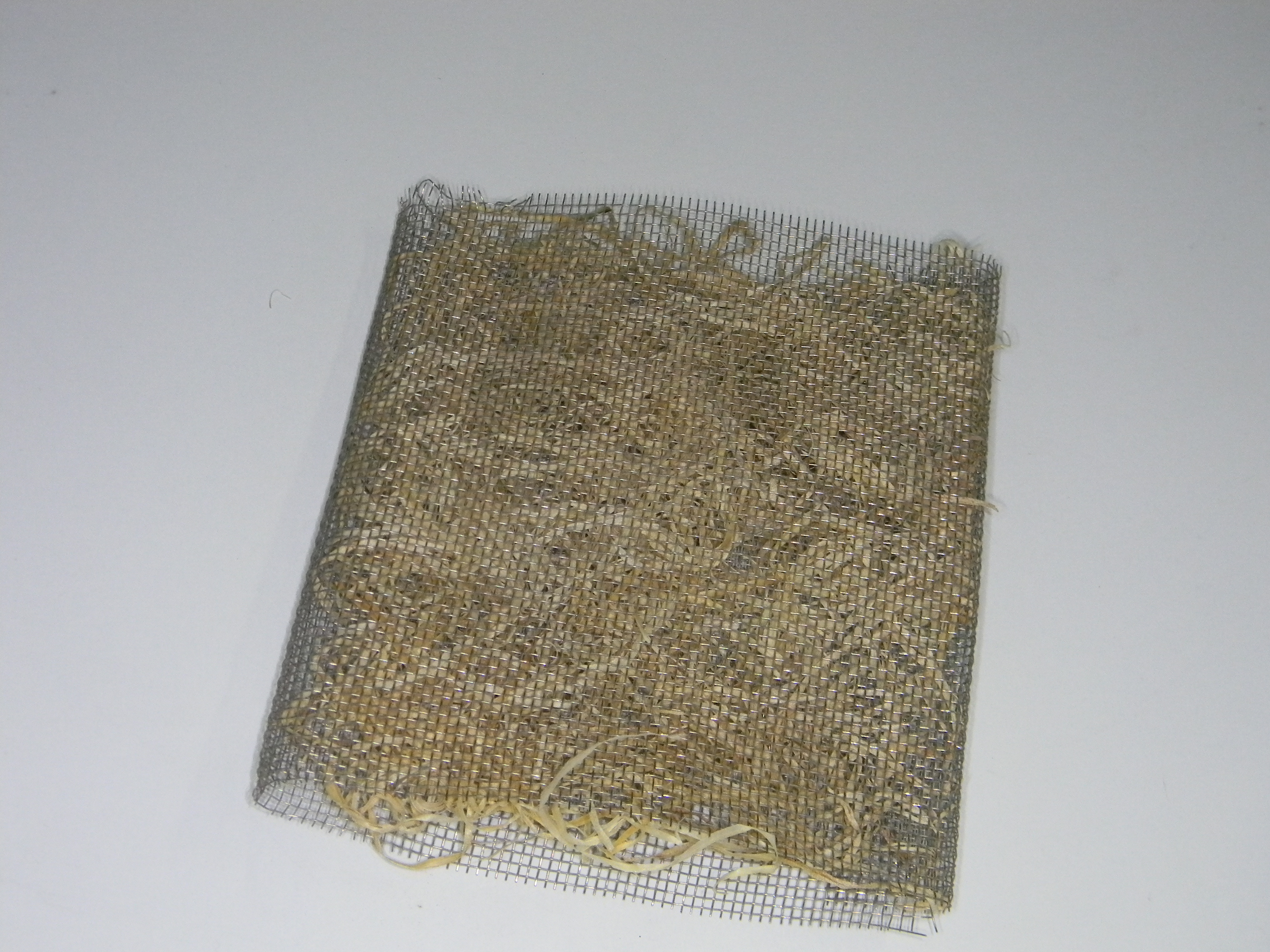 Picture of  Cutting Metal Net for the Window.