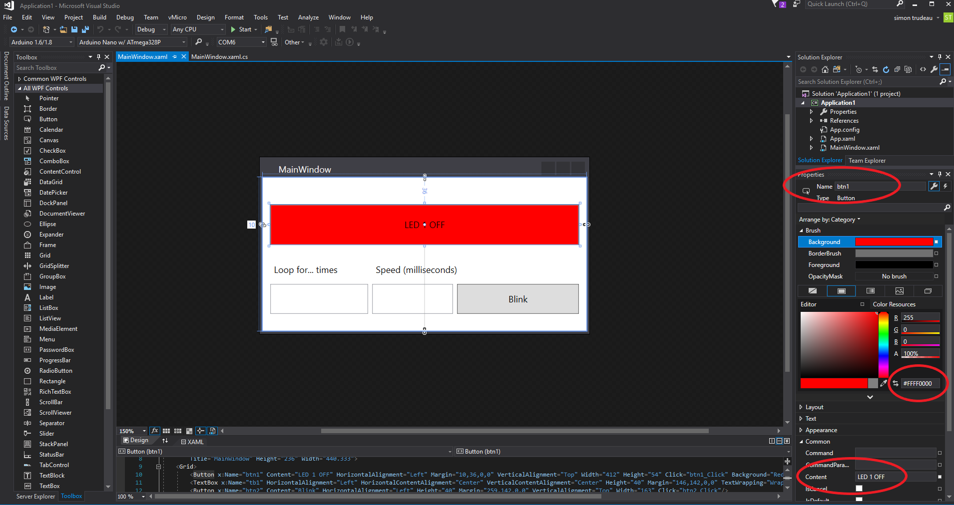 Picture of WPF Form