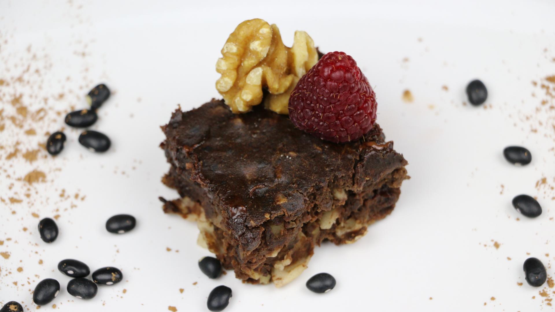 Picture of Super Gooey Coconut & Walnut Black Bean Brownies