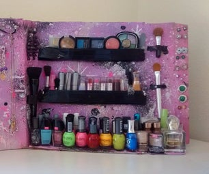 Duct Tape Glitter Beauty Organizer ♥