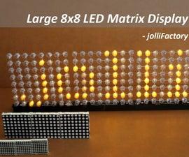 Large 8x8 LED Matrix Display