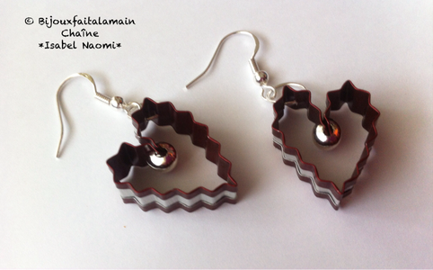 Finish Until You Have Your Heart Shaped Earrings