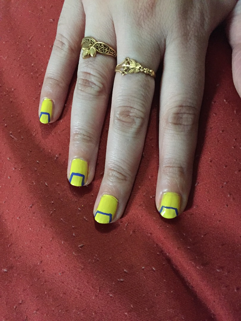 Picture of Minions Nail Art