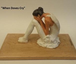 Ceramic Sculpture: Crying Ballerina