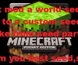 how to hex mod a minecraft world seed in a custom world make from seed part you make before