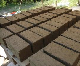 Home Made Brick Press and Bricks Building Process