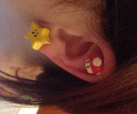 Magnetic Mario Earrings Super Stars