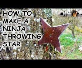 MAKE A SHURIKEN (NINJA THROWING STAR)