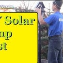 DIY Solar LED Lamp Post Free Light Energy All Year Round and Looks Amazingly Cool Backyard Garden