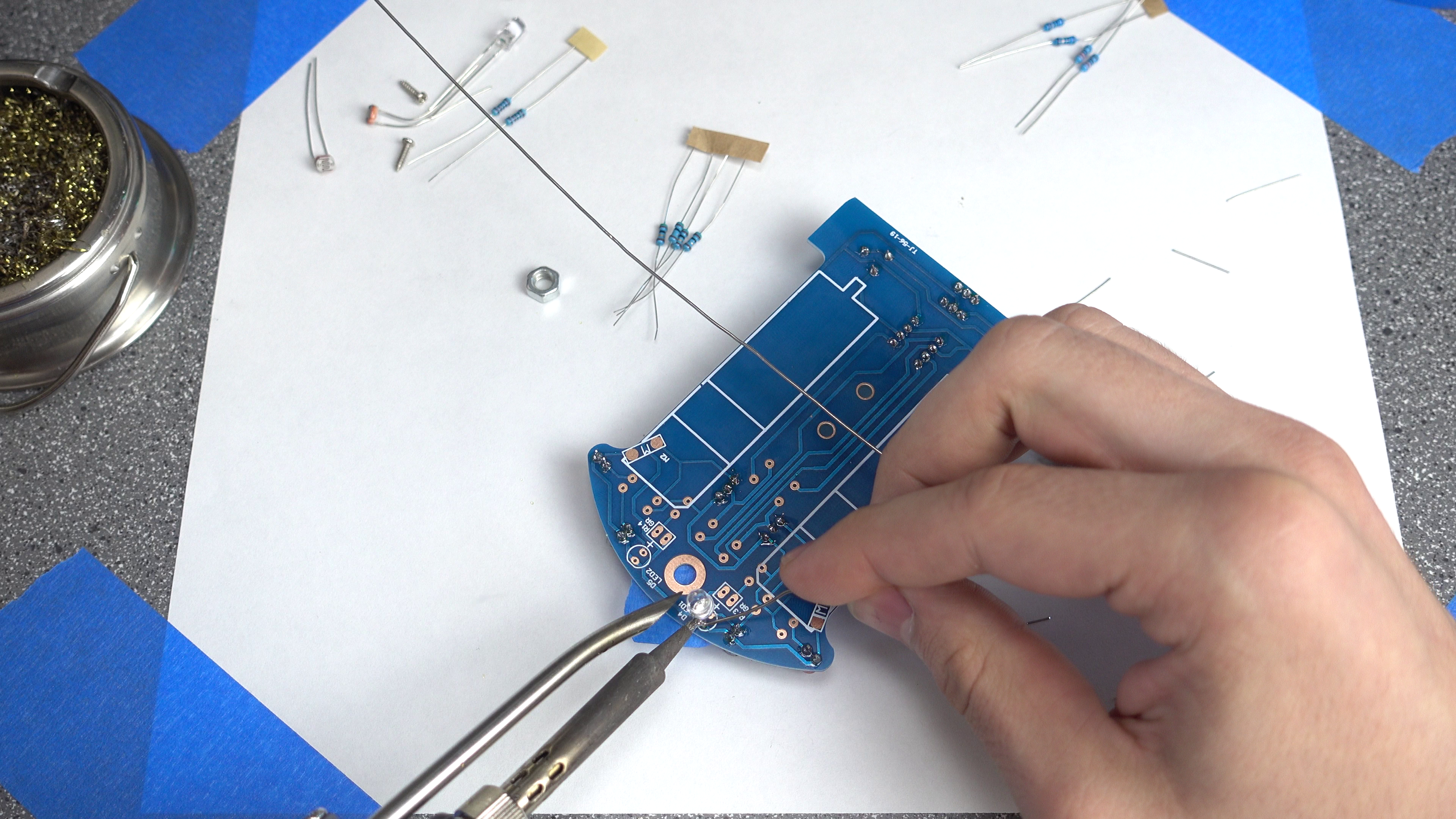 Picture of Soldering: Clear LEDs