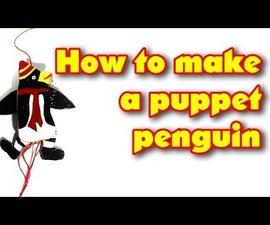 How to Make a Puppet Penguin Out of Cardboard