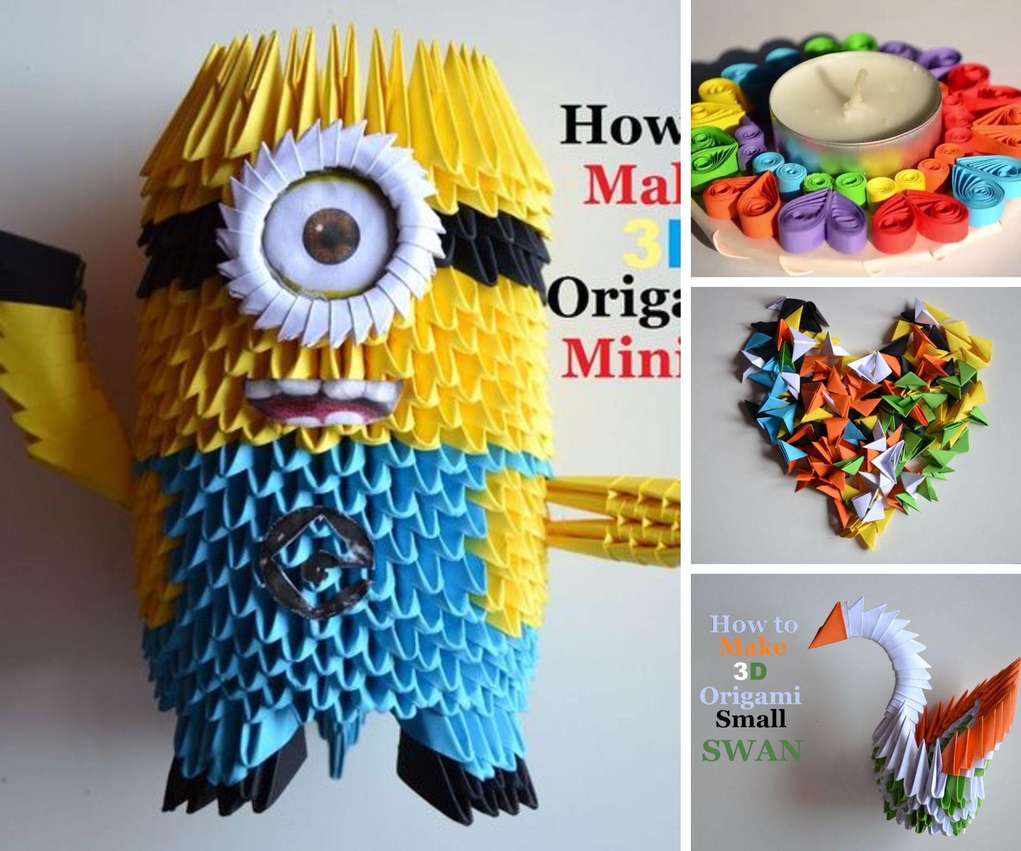 3D Origami Quilling Crafts