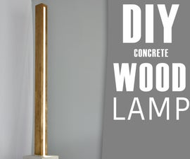 DIY Concrete and Wood LED Floor LAMP