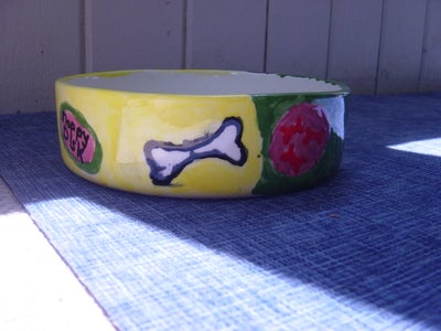 Clay Fired Dog Bowl