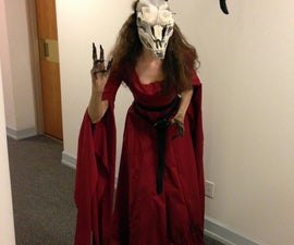 Sorceress With Skull Mask and Horns