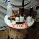 Hacked Tool Storage on My Pounding Log!!!!