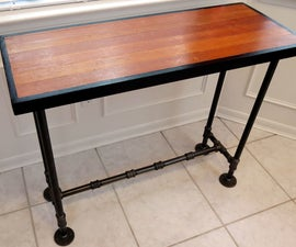 A Table from Discarded Wood Flooring