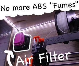 3D Printed Air Purifier -- Get Rid of ABS Smell and VOC's