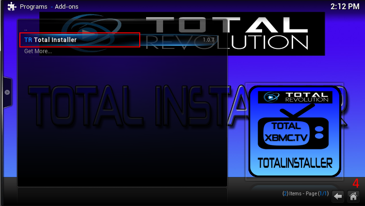 """Picture of Install the """"Total Installer"""" Program Addon"""