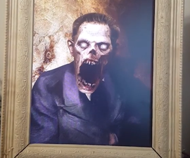 Living Portrait Scare for Halloween Using a Raspberry Pi, PIR and Python
