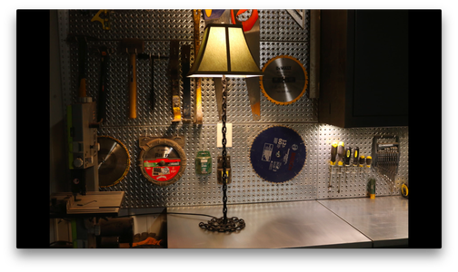 Industrial Chain Link Lamp